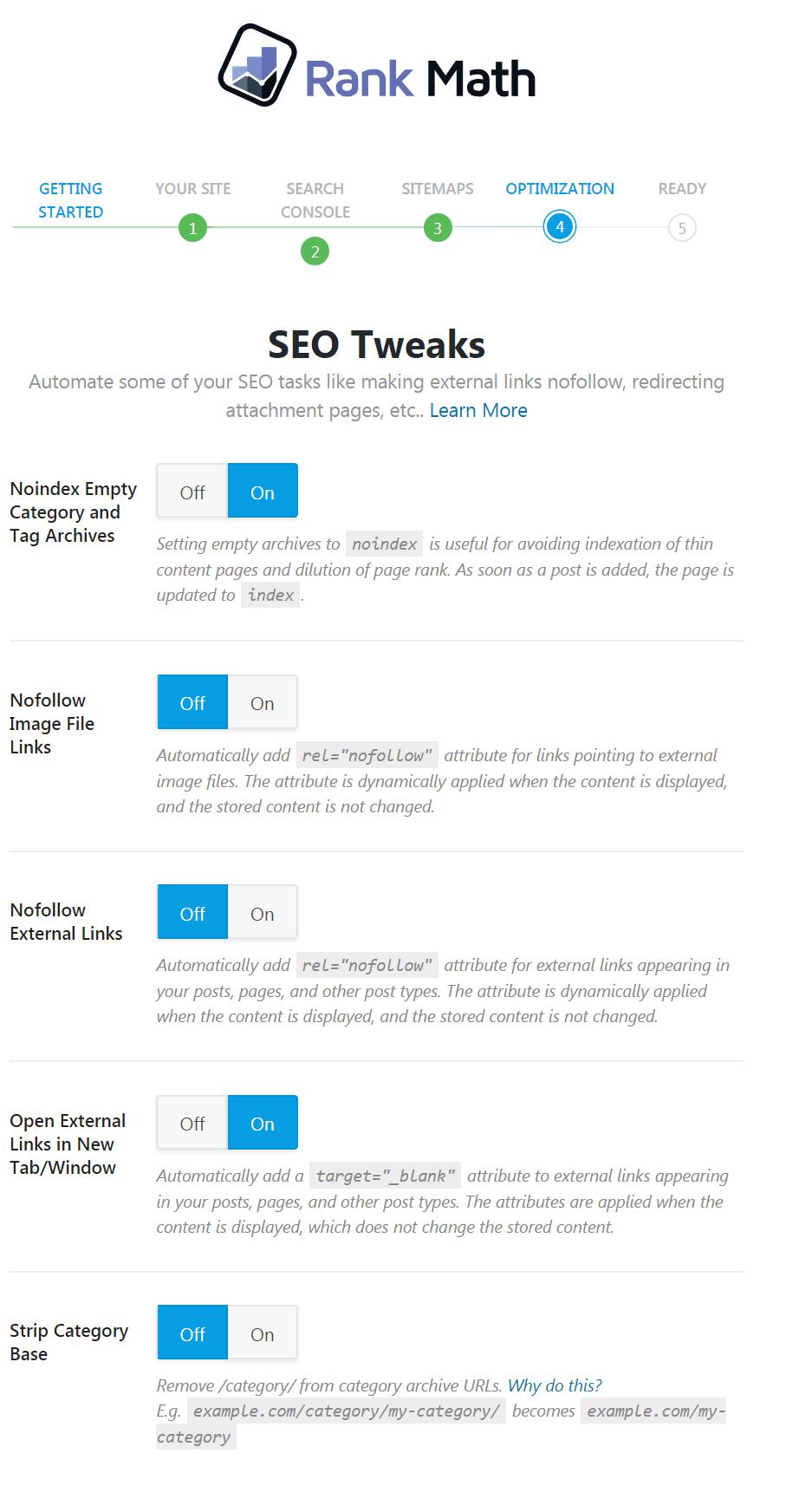 Rank-Math options générales