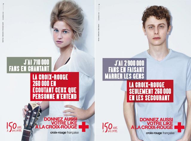 publicité croix rouge