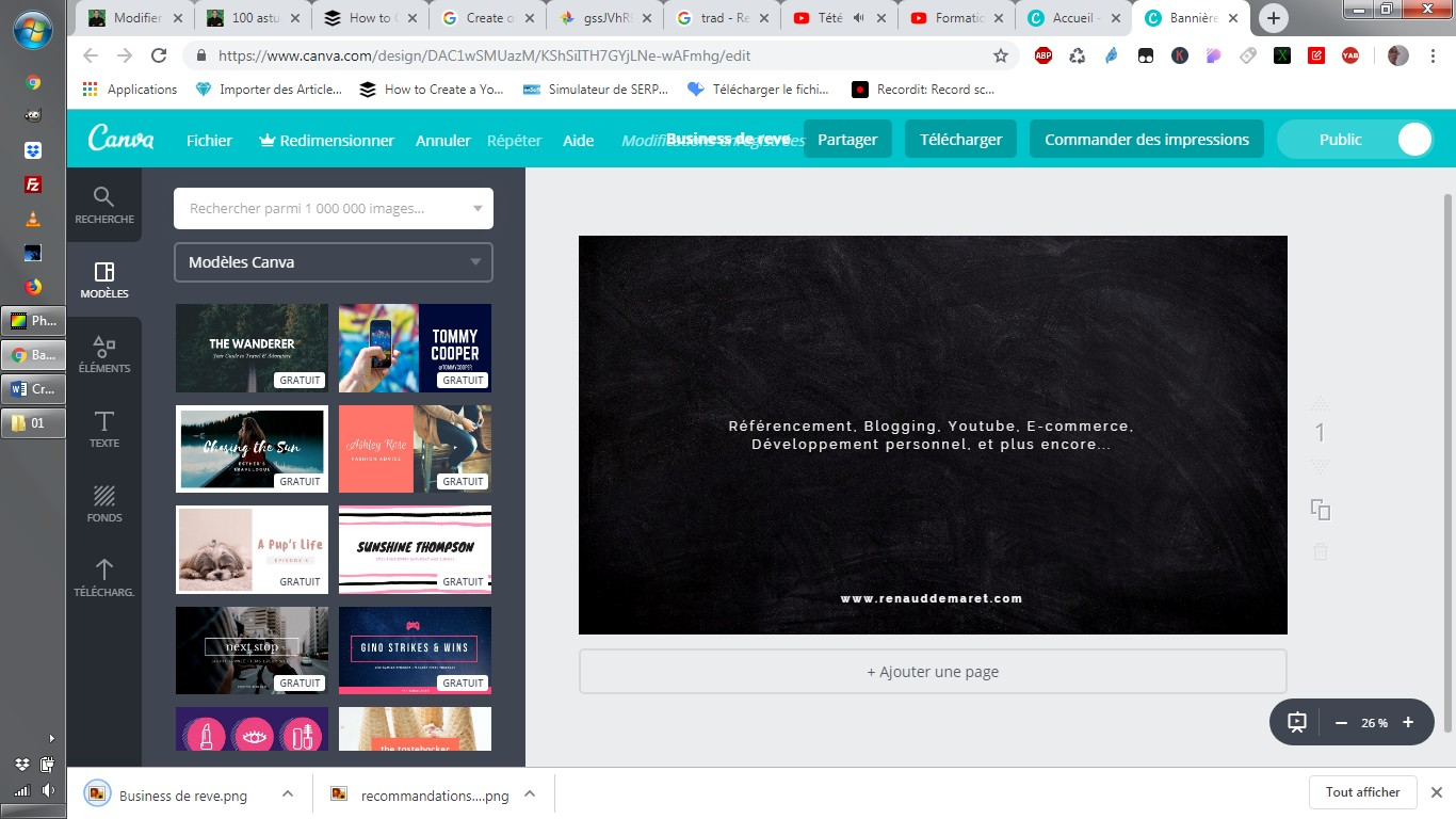 exemple illustration youtube avec canva