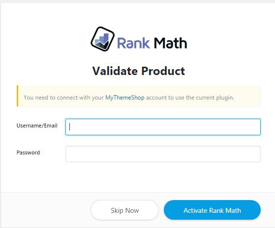 installation rank math