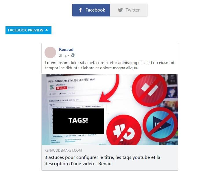 opengraph facebook et twitter