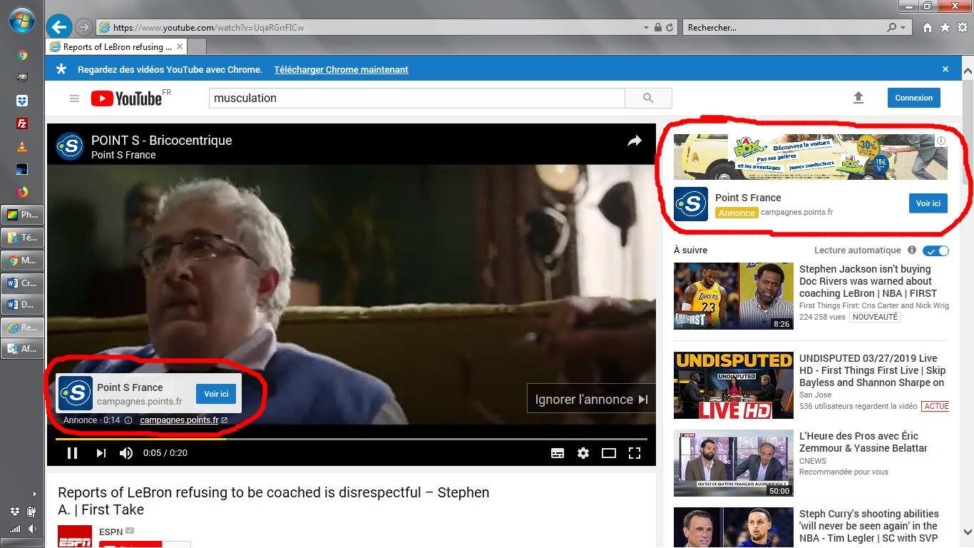 publicités youtube