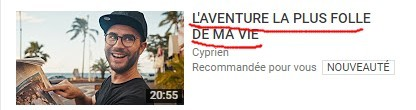 youtube cyprien recommandation