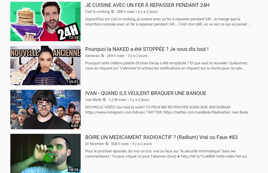 tendances putaclic youtube