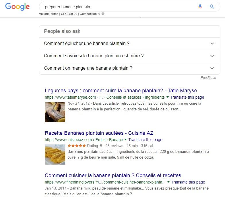 exemple de recherche longue traine google