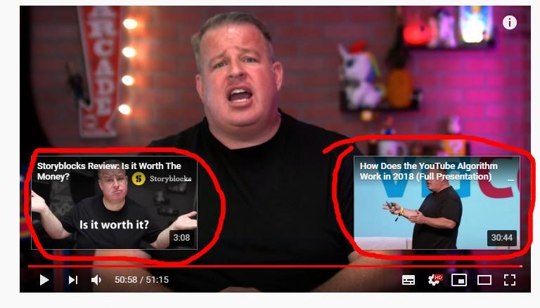 écran de fin youtube