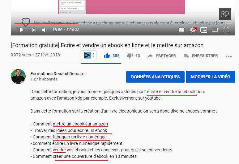 exemple de description pour avoir plus de vues youtube