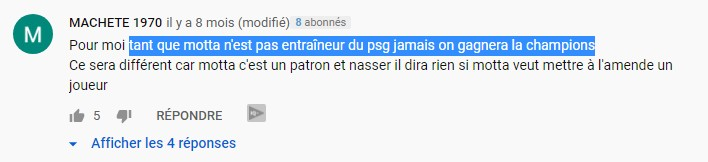 réaction youtube