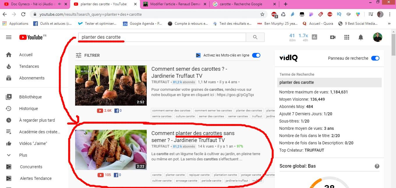 résultats youtube