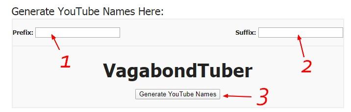 générateur de nom de chaine youtube