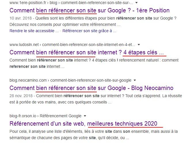 intentions des internautes sur google