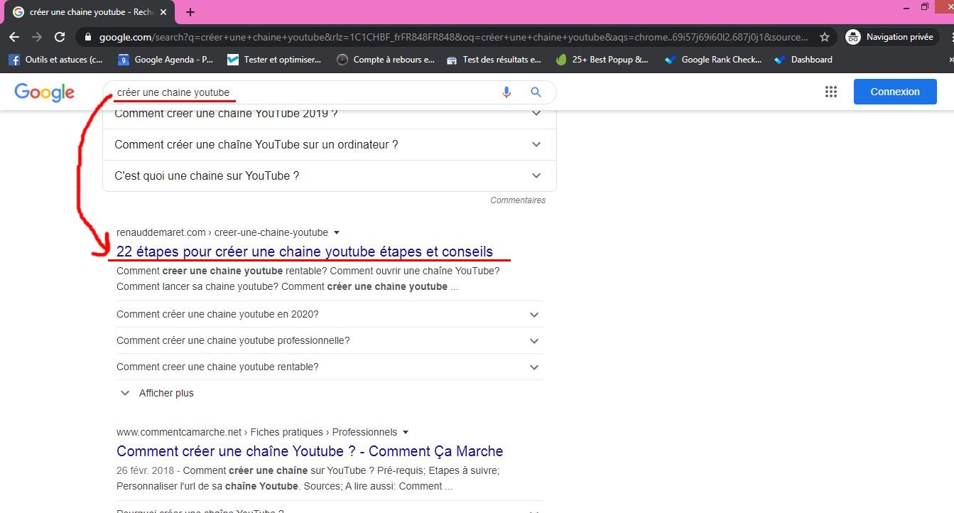 ma position sur google
