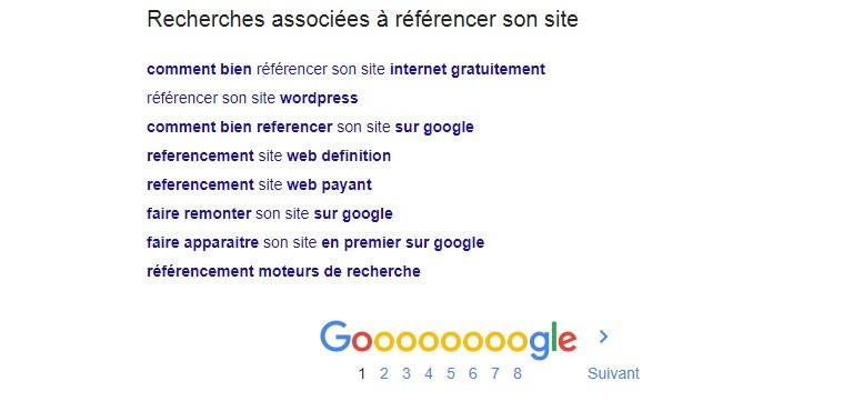 recherche associées google