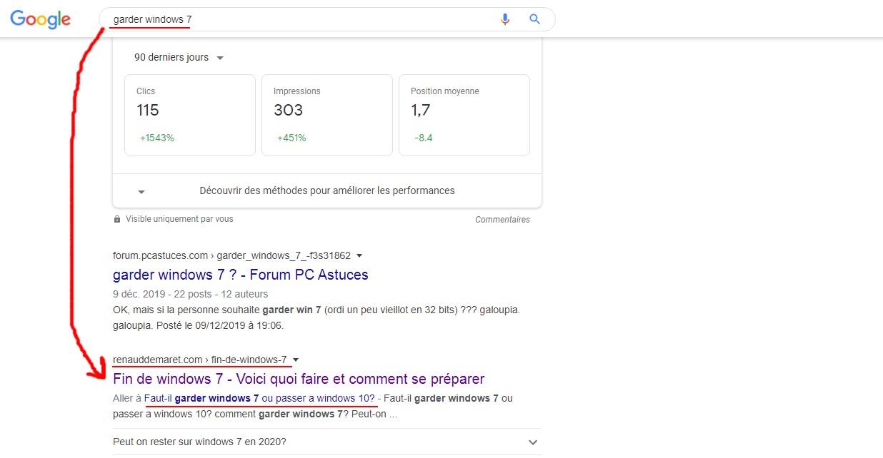 requête optimisée pour google