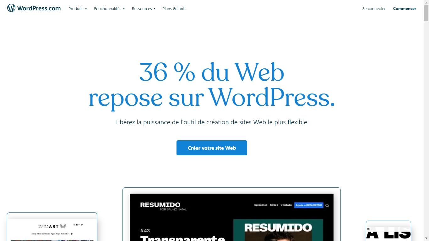 plateforme wordpress