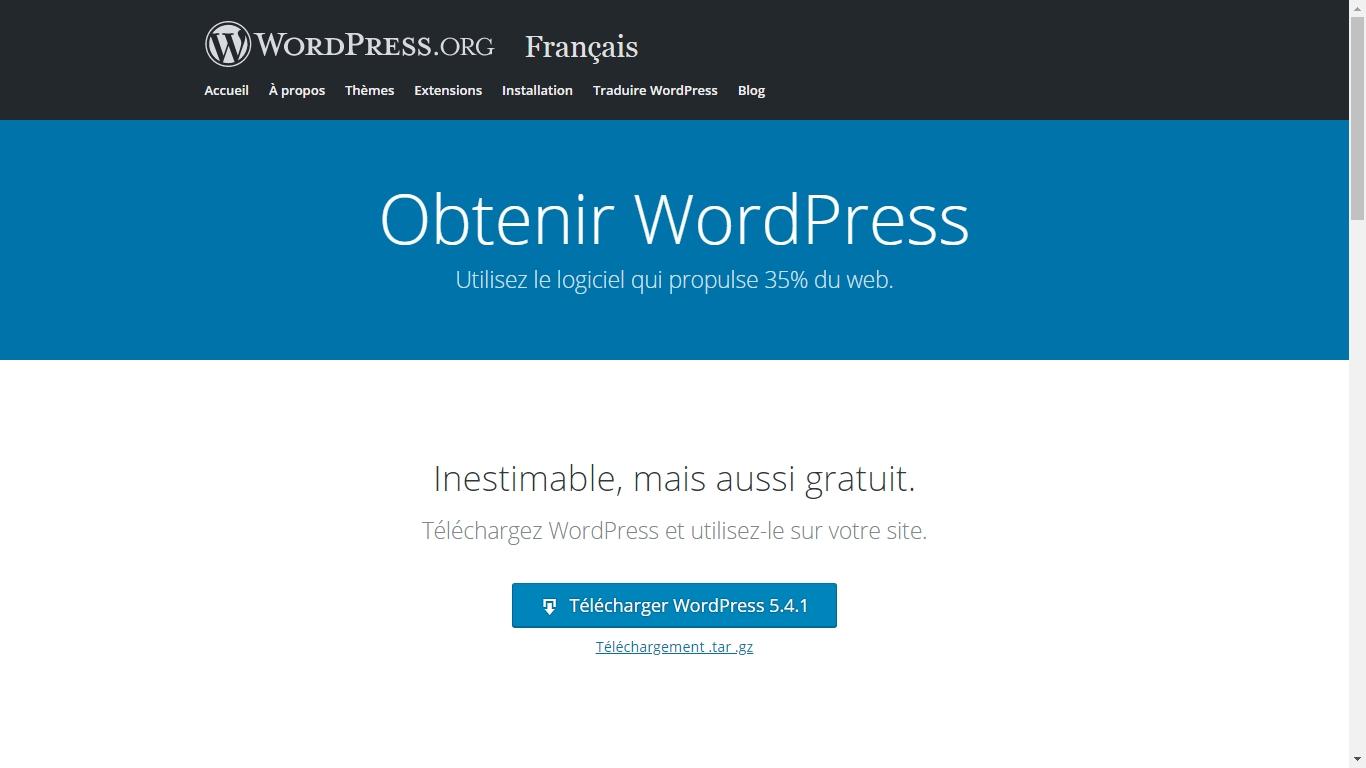 télécharger archive wordpress