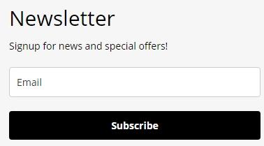 formulaire intégré newsletter