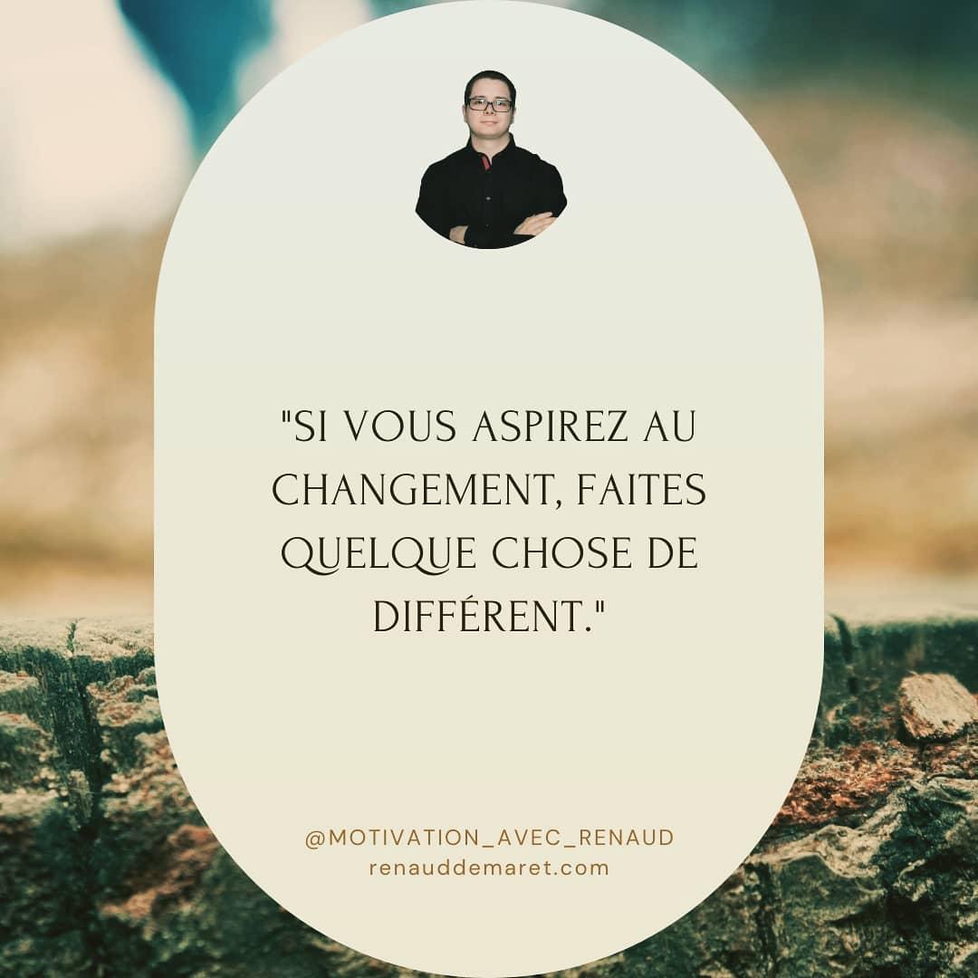 citation inspirante changement