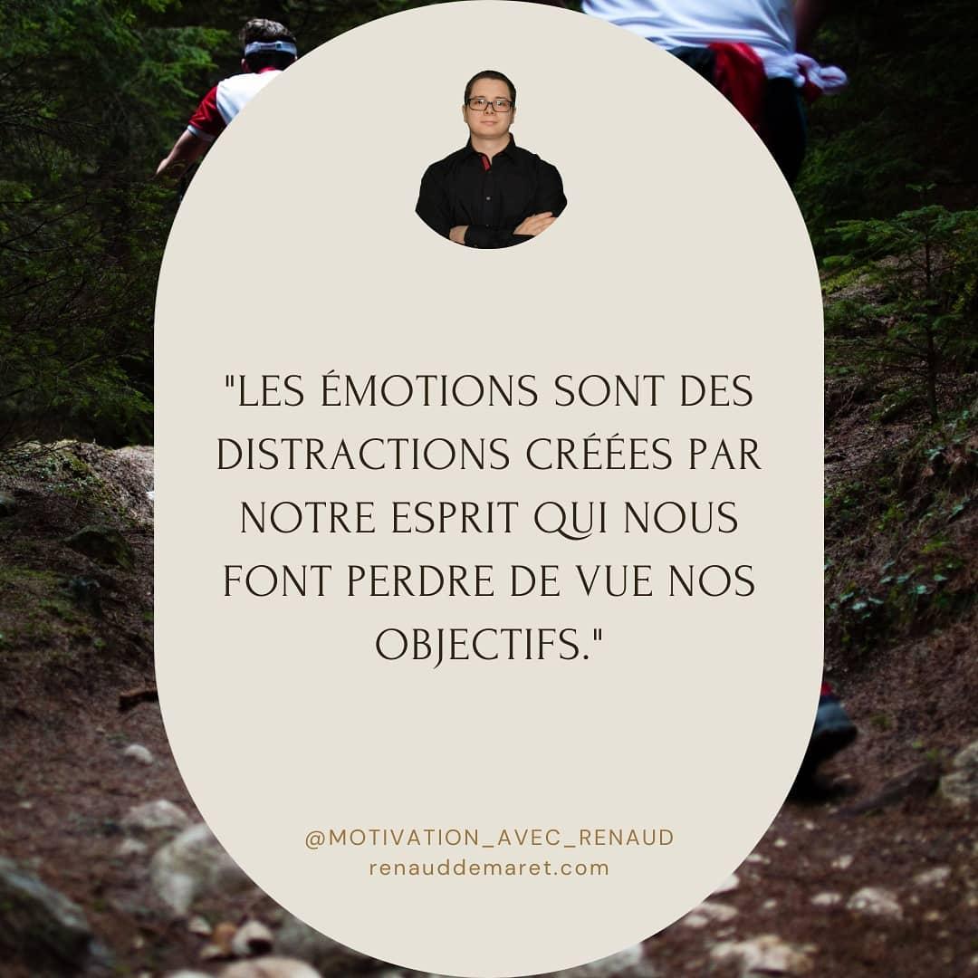 citation inspirante distractions émotions