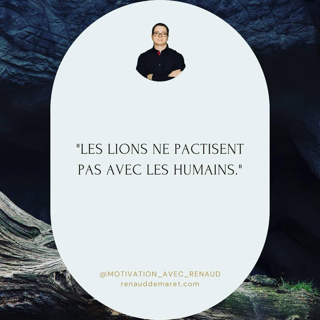 citation inspirante film humains lions