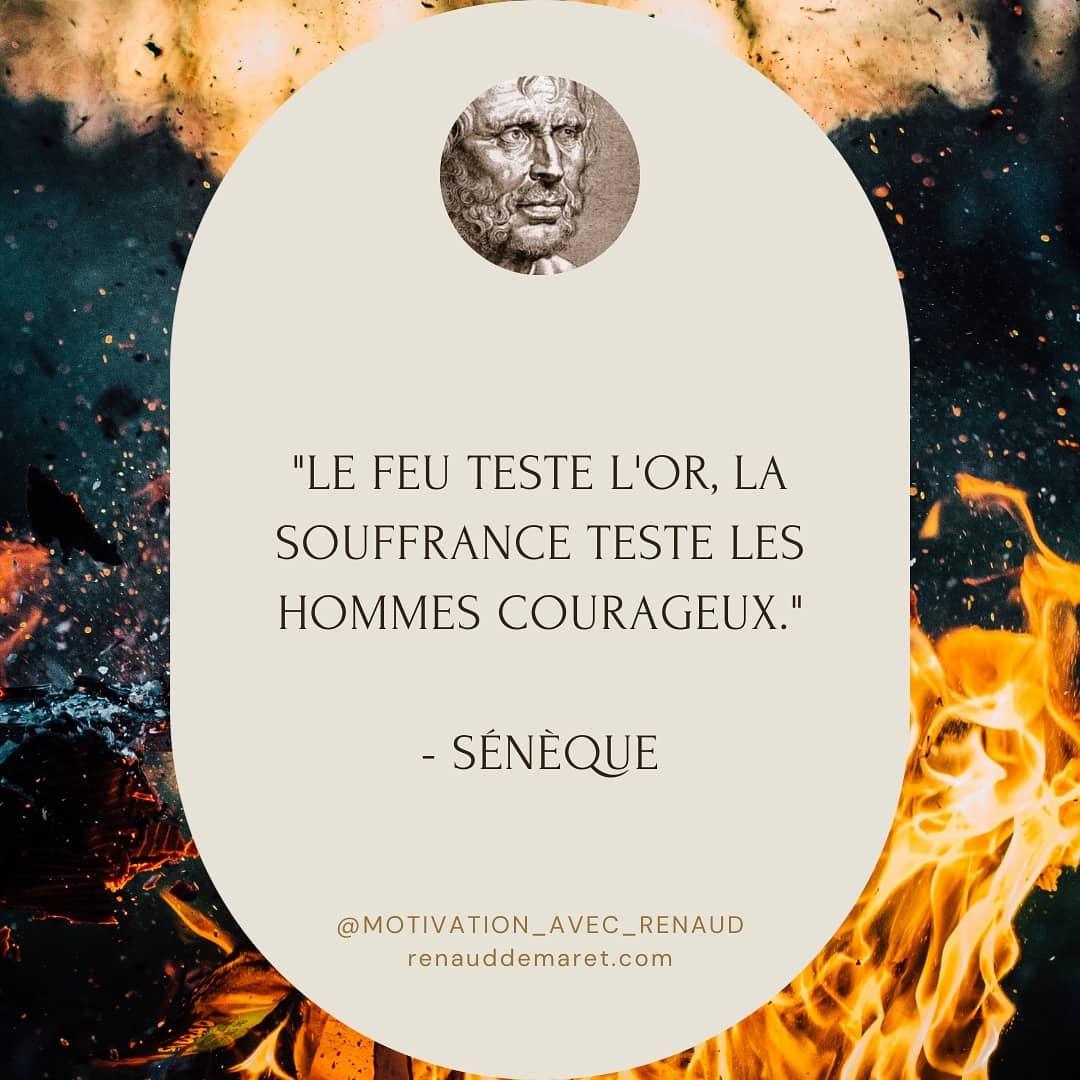 citation seneque souffrance et courage