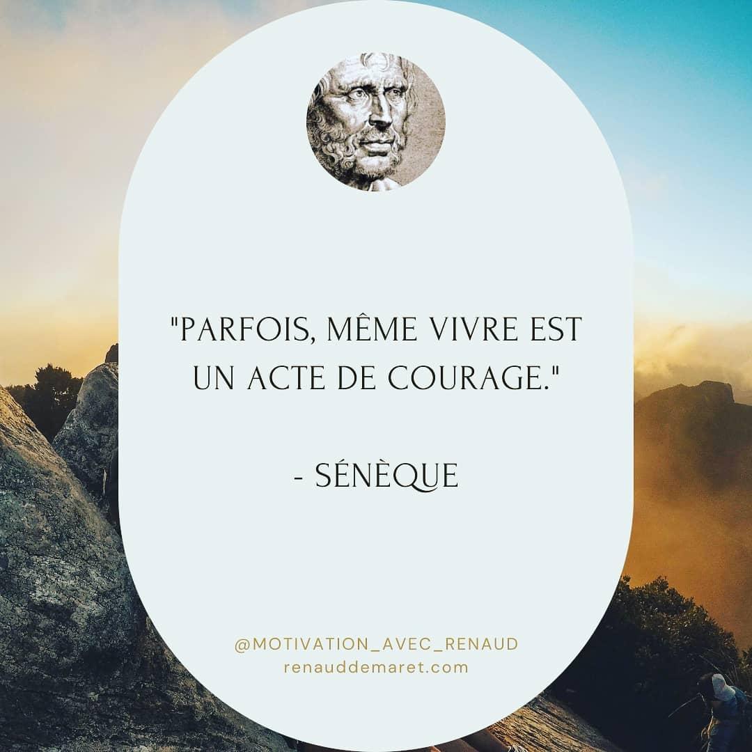 citation seneque vie et courage
